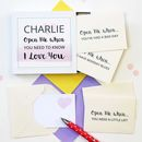 Personalised 'Open Me When' Love Messages
