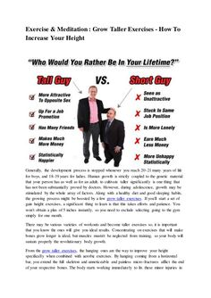 See this Grow Taller Exercises on SlideShare