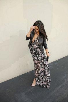 Maternity fashion, date night. The HONEYBEE // #pregnancystyle #pregnancyfashion