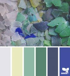 Sea Glass Hues | design seeds | Bloglovin'
