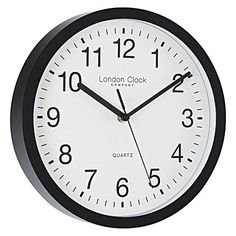 Clean lines and monochromes make the Simple Wall Clock, 26cm from London Clock Company a timeless addition to your home.