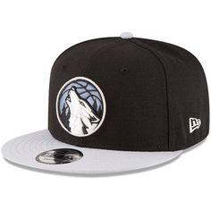 Men s New Era Black Gray Minnesota Timberwolves 2-Tone 9FIFTY Adjustable  Snapback Hat f0104b46f11