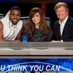 So You Think You Can Dance (US).  2005.  It goes a lot faster and I don't get as irritated if I just skip the judges' comments. Shown:  Jason Derulo, Paula Abdul, and Nigel Lythgoe.  I am ready to watch S12E011.