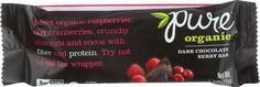 Pure Organic Pure Fruit And Nut Bar - Organic - Dark Chocolate Berry - 1.7 Oz Bars - Case Of 12