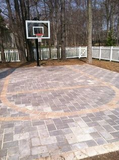 basketball court for the backyard without looking like a gym