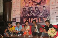 "The song ""Fugly Fugly kya hai"" has raised much curiosity among the audience about this upcoming Hindi film Fugly directed by Kabir Sadanand. The song has been gaining huge popularity due to the dance steps and also due to the lyrics. : http://sholoanabangaliana.in/blog/2014/05/27/ashok-kumars-great-grand-daughter-kiara-advani-excited-to-visit-kolkata-promotes-debut-hindi-film-fugly/#ixzz32vYg8hJO"