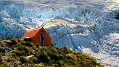 Sefton Bivvy is a popular back-country campsite for hunters and trampers visiting forest areas of Aoraki/Mount Cook National Park, New Zealand. #dochuts