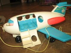 Fisher Price Little People Pull Airplane - My hamster Sqeeky got stuck in one of the windows in this plane.  He made it out alive though.
