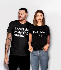 Funny Couples Shirts, Matching Shirts for Couples, wedding tees for bride and groom, couple outfit, - funny memes Funny Couple Shirts, Couple Tees, Couple Tshirts, Funny Couples, Fit Couples, Wedding Couples, Wedding Bands, Matching Couple Outfits, Matching Couples