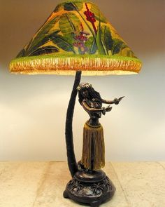 hula girl lamp | Charles' experiences creating in bronze continue to open up new ...