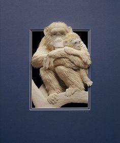 Paper Sculptures by Calvin Nicholls