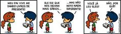 Armandinho - Doe um livro #tirinha #quadrinhos
