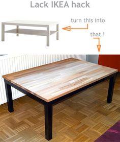 Diy deco recup industrielle relooker un miroir avec du bois de palettes b - Customiser table basse ikea ...