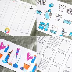 We just listed new sticker sheets! Featuring sidebar notes, sticky notepads, and two different cleaning designs!  Find these in the shop: MileHighPlanning.com