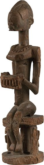 Seated Figure  Mali, Dogon  Wood, 69 cm high