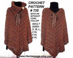 Poncho cape pattern Shawl pattern Striped poncho Crochet