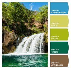 Paint colors from Chip It! by Sherwin-Williams | Focus On Nature Photography | Fossil Creek