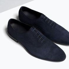 ZARA - 男士 - 英式反絨革羅緞鞋