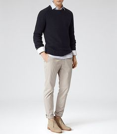 REISS SALE Final Reductions: Reiss Florence Mens Sand Cotton Trousers