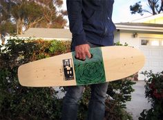 the hannahB Old School Cruiser model skateboard
