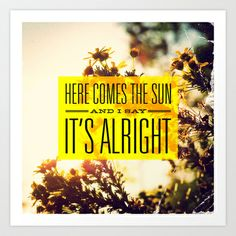 8ba57a4c762 The Beatles - Here Comes the Sun Art Print by J.J. del Rosario -  19.99