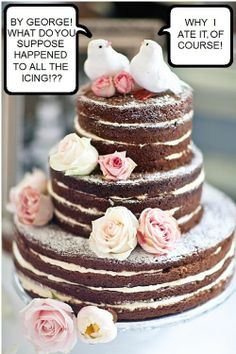 """how to make a naked rustic cake 
