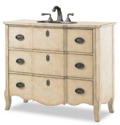 43 Inch Single Sink Bathroom Vanity in Warm Linen Finsh UVCAC11242755432643