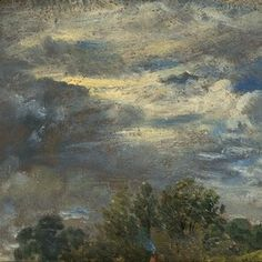 'Study of Sky and Trees' by John Constable, 24 September 1821 Vancouver Art Gallery, Caspar David Friedrich, Russian Painting, Modern Artists, Victoria And Albert Museum, Sculpture, Impressionism, Painting & Drawing, Landscape Paintings