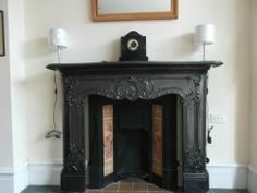 Large Victorian Cast Iron Fire Surround | eBay