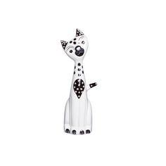 Gato Estatueta Cerâmica. Transforme sua decoração e deixe-a muito mais cheia de graça.