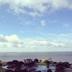 View from the top of the lighthouse #lighthouse #currituck #obx #outerbanks #water #sound #vacation #august #summer - @eberlea- #webstagram