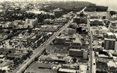 Vista aérea da parte baixa de Lourenço Marques, anos 60.
