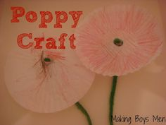 Poppy craft for Remembrance day