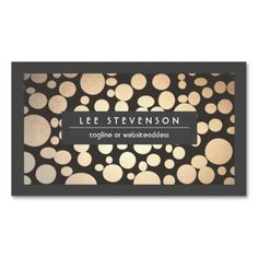 Fun and Stylish Gold Pattern Modern Business Card. Make your own business card with this great design. All you need is to add your info to this template. Click the image to try it out!