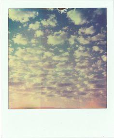 Polaroid vintage clouds