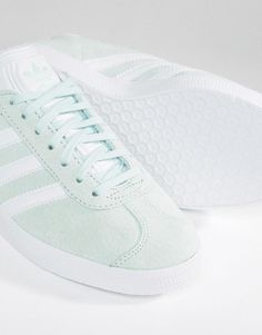 4de7904b32 adidas Originals Mint Suede Gazelle Trainers at asos.com