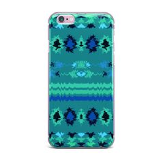 "Nina May ""Turquoise Nava"" Teal Tribal iPhone Case 