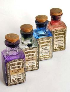 Letterology: Early Ink Bottle Labels