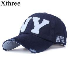 Xthree  unisex fashion cotton baseball cap snapback hat for men women sun hat  bone gorras ny embroidery spring cap wholesale 08bd21b07bba