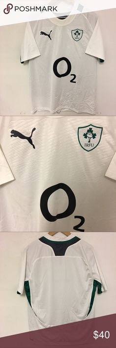 NEW IRFU O2 Rugby Football Jersey Sz L New condition jersey. Mens size large. Puma Shirts