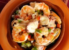 Seafood Tapas Salad Recipe #stepbystep