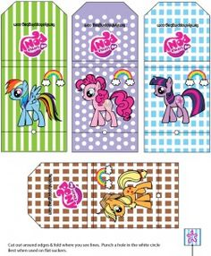 {free} printable My Little Pony Wrapper Favor Box