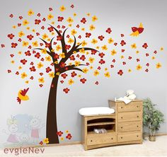 Children Wall Decal Wall Sticker tree decal  Cherry by evgieNev, $88.00