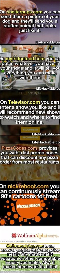 DIY Life Hacks & Crafts :pizza codes, Nickelodeon cartoon stream, make meals with whatever is in the refrigerator, stuffed animal replicas, math homework calculator Simple Life Hacks, Useful Life Hacks, The More You Know, Good To Know, 1000 Lifehacks, School Hacks, Things To Know, Long Things, Good Advice