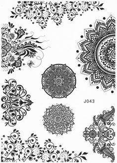 Mandala Tattoo, Lotus Tattoo, Aztec Tattoo, Tribal, Black and White, Henna Art, Maori Art, Polynesian – MyBodiArt