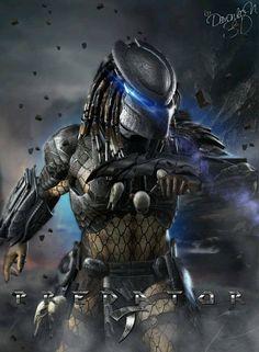 Stunning artwork by Brazlian artist Alien Vs Predator, Predator Cosplay, Predator Movie, Predator Alien, Predator Tattoo, Le Joker Batman, Space Opera, Alien Art, Fantasy Creatures