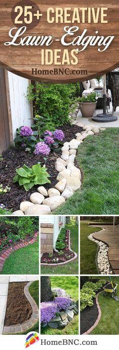 Lawn-Edging Ideas #GardenEdging San Jose, Landscaping, Projects, Outdoor Decor, Home Decor, Homemade Home Decor, Saint Joseph, Yard Landscaping, Garden Design