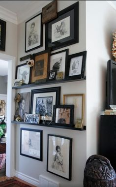 Art Wall Using Ikea Picture Shelves Love The