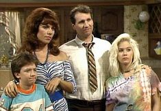 Married with Children, 1987-1997... we weren't allowed to watch T.V. when we were little, only Saturday morning cartoons, but for some reason my parents let us watch this show... the mind reels!