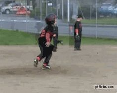 """This kid who forgot he was playing a game: 